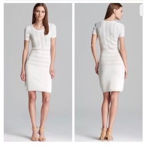 French Connection white knit dress